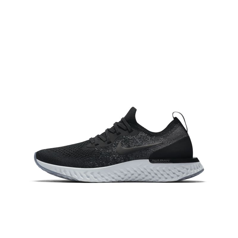 Nike Epic React Flyknit Older Kids'Running Shoe - Black