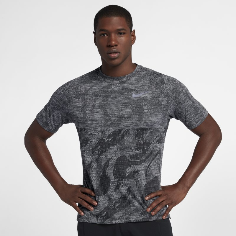 Nike Medalist Men's Short-Sleeve Running Top - Black