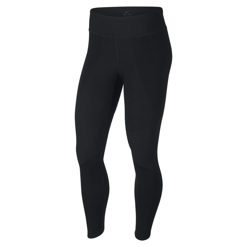 Nike Epic Lux Women's Texture Mid-Rise Running Tights - Black