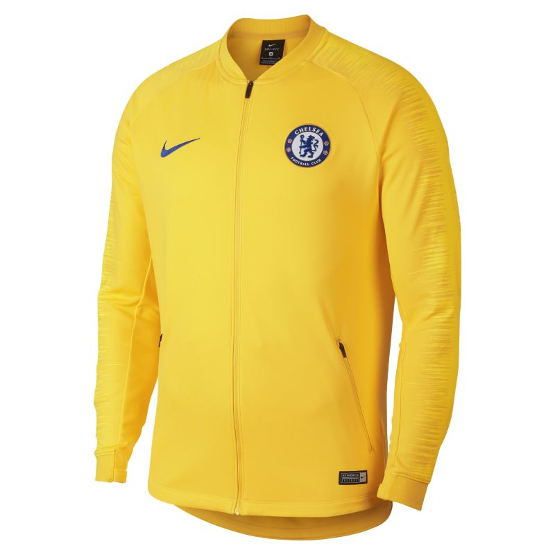 Chelsea FC Anthem Men's Football Jacket - Yellow