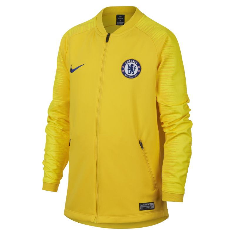 Chelsea FC Anthem Older Kids' Football Jacket - Yellow