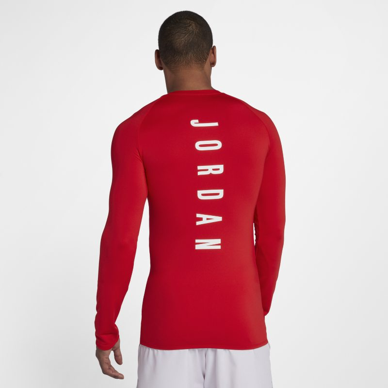 Jordan 23 Alpha Men's Long-Sleeve Basketball Top - Red