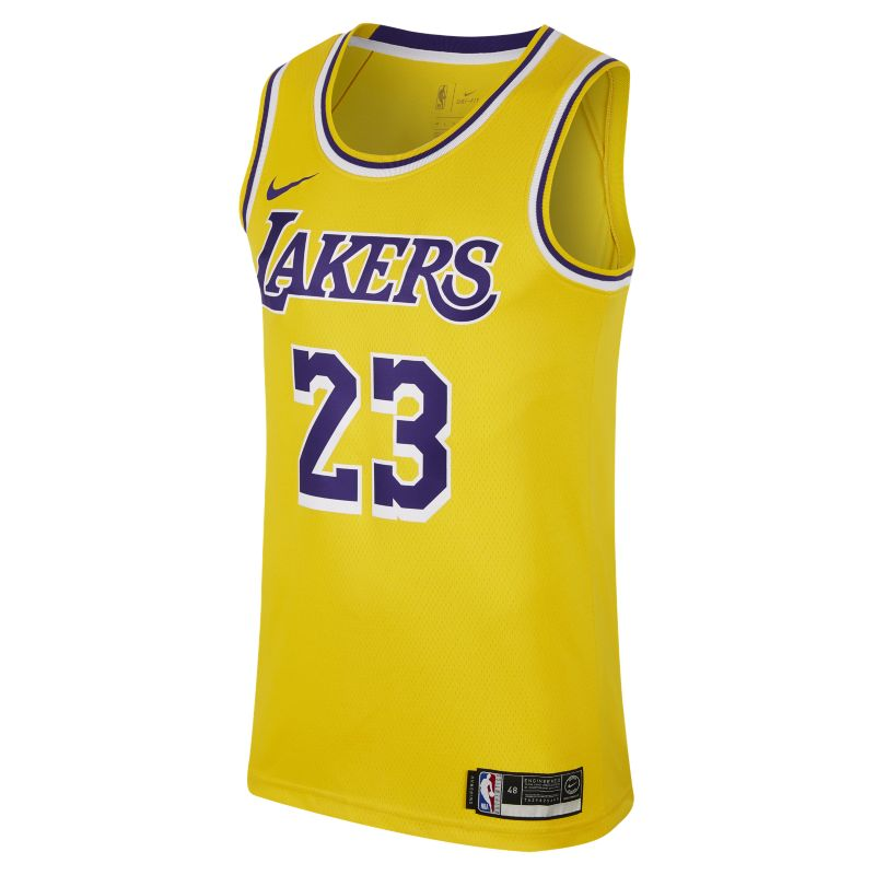 LeBron James Icon Edition Swingman Basketball Jersey (Los Angeles Lakers) Men's Nike NBA Connected J