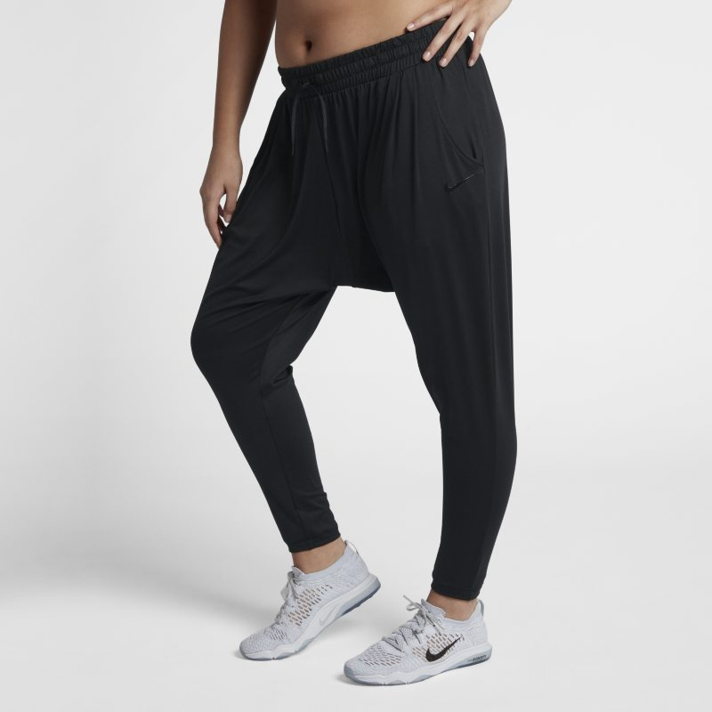 Image of Nike Dri FIT Lux Flow Women's Mid Rise Training Trousers Black