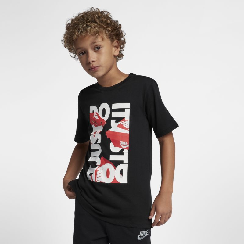 Nike Sportswear Older Kids' (Boys') Just Do It T-Shirt - Black