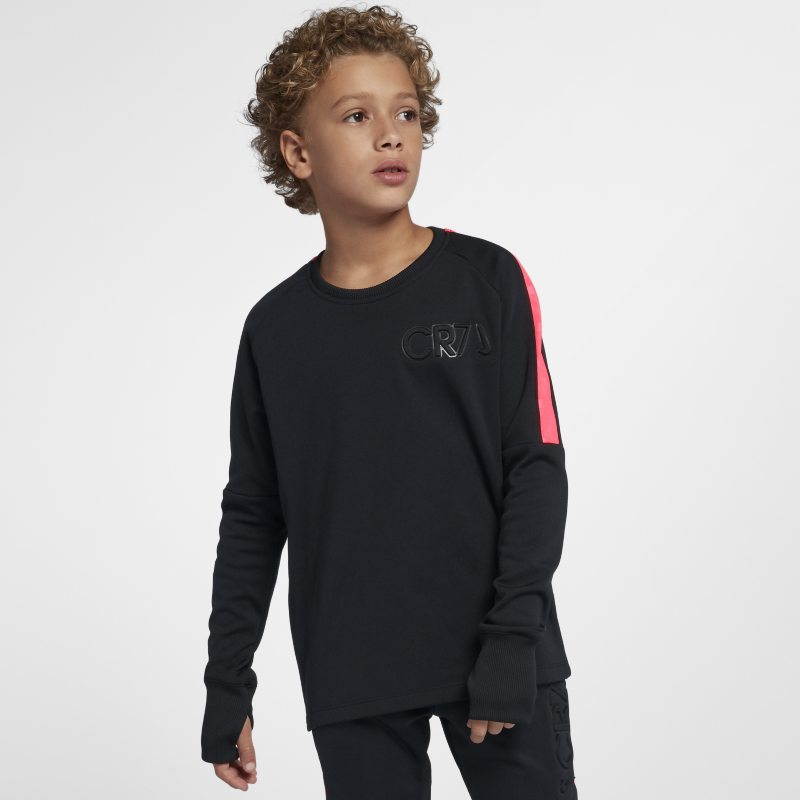 Nike Dri-FIT CR7 Older Kids'(Boys') Long-Sleeve Football Top - Black