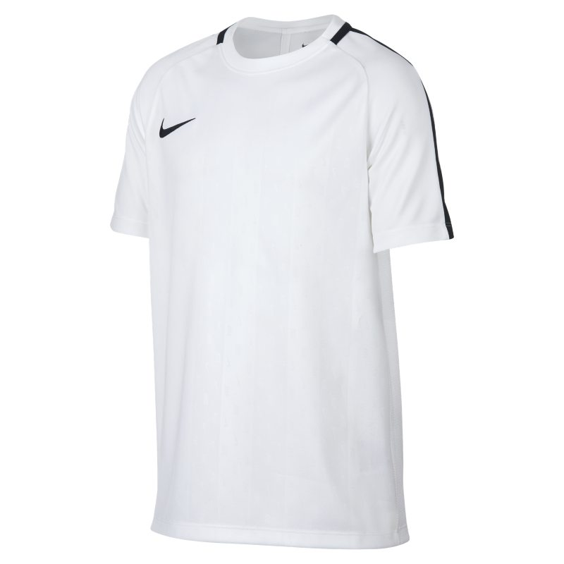 Nike Dri-FIT Academy Older Kids'(Boys') Short-Sleeve Football Top - White