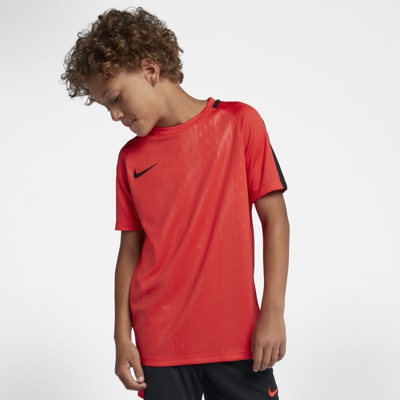 Nike Dri-FIT Academy Older Kids'(Boys') Short-Sleeve Football Top - Red