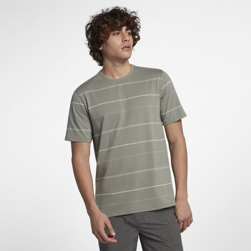 Hurley Dri-FIT New Wave Men's Short-Sleeve Crew - Grey