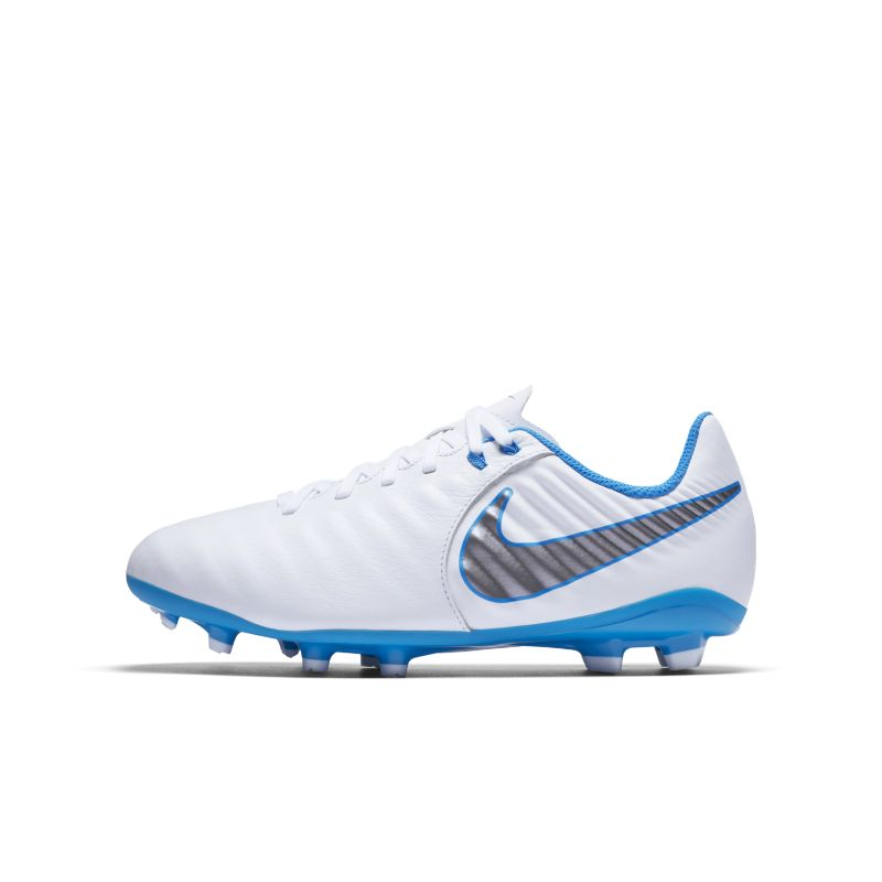 Nike Jr. Tiempo Legend VII Academy Just Do It FG Younger/Older Kids'Firm-Ground Football Boot - Whit