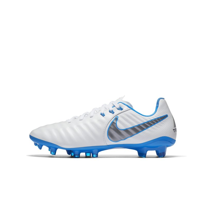 Nike Jr. Tiempo Legend VII Elite Just Do It FG Younger/Older Kids'Firm-Ground Football Boot - White