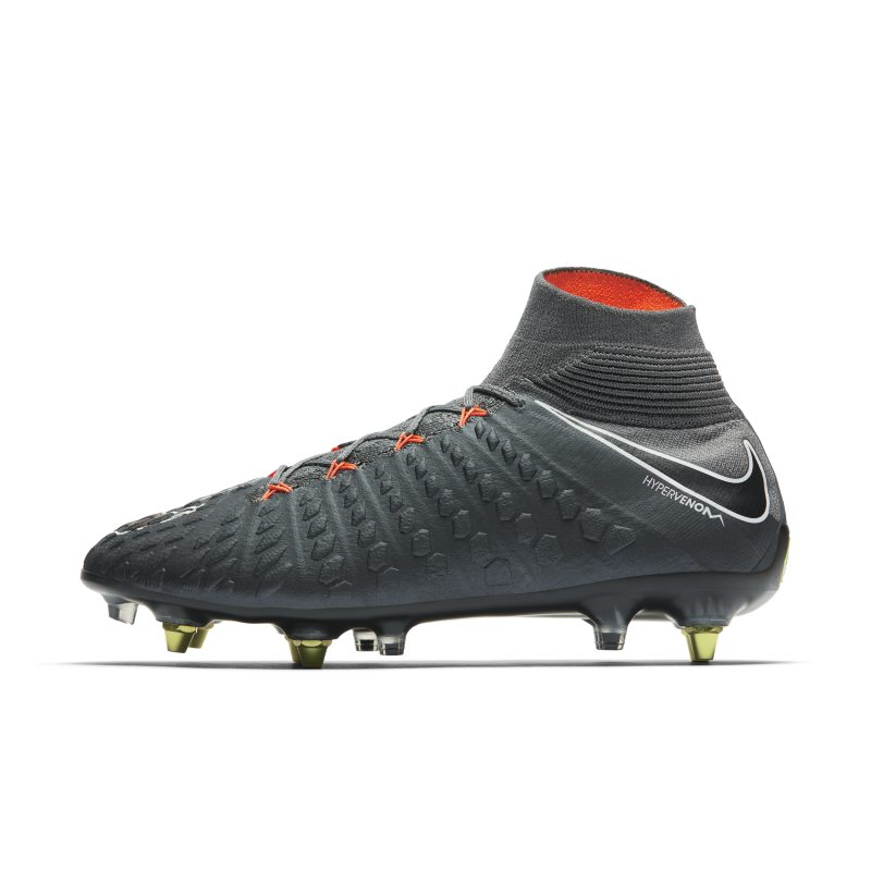 Nike Hypervenom Phantom III Elite Dynamic Fit Anti-Clog SG-PRO Soft-Ground Football Boot - Grey