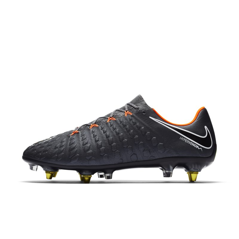 Nike Hypervenom Phantom III Elite Anti-Clog SG-PRO Soft-Ground Football Boot - Grey