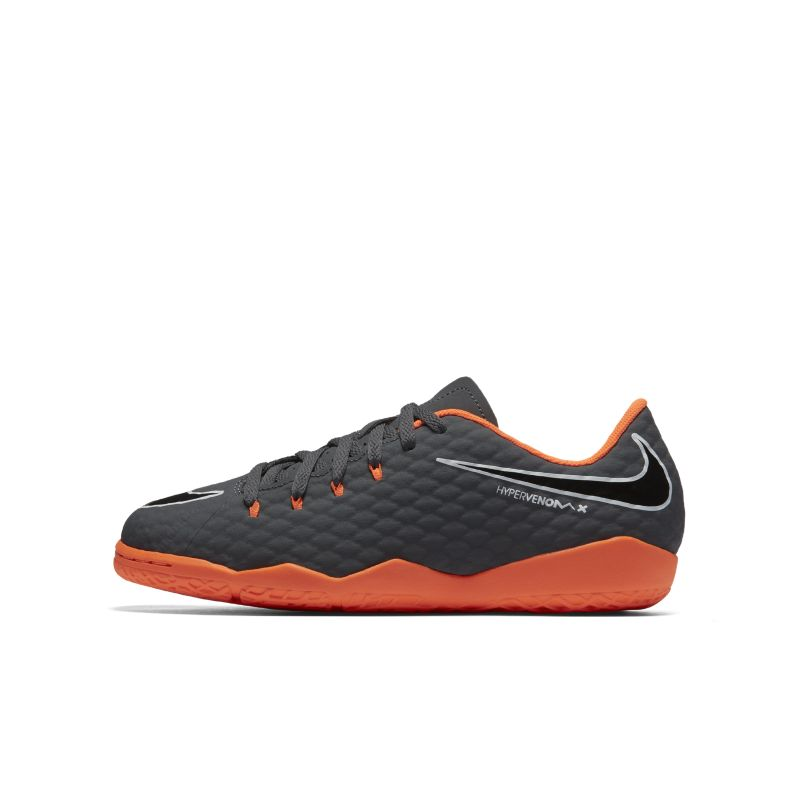Nike Jr. Hypervenom PhantomX Academy III IC Younger/Older Kids'Indoor/Court Football Shoe - Grey