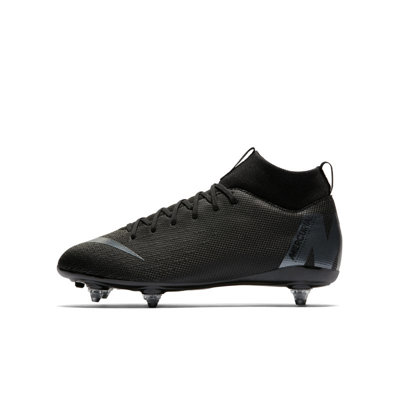 Nike Jr. Mercurial Superfly VI Academy Younger/Older Kids' SG-PRO Soft-Ground Football Boot - Black