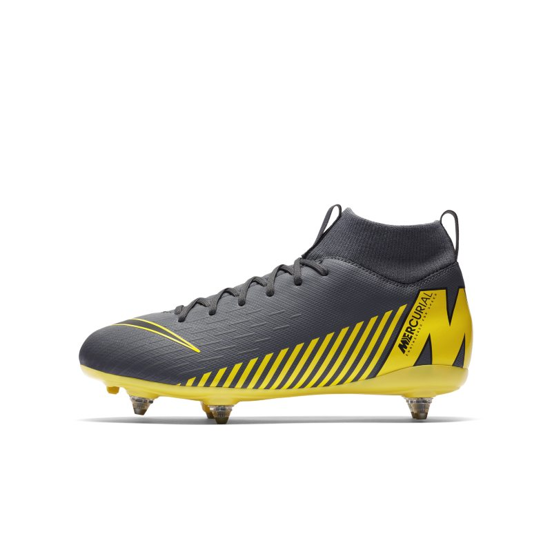Nike Jr. Mercurial Superfly VI Academy Younger/Older Kids' SG-PRO Soft-Ground Football Boot - Grey