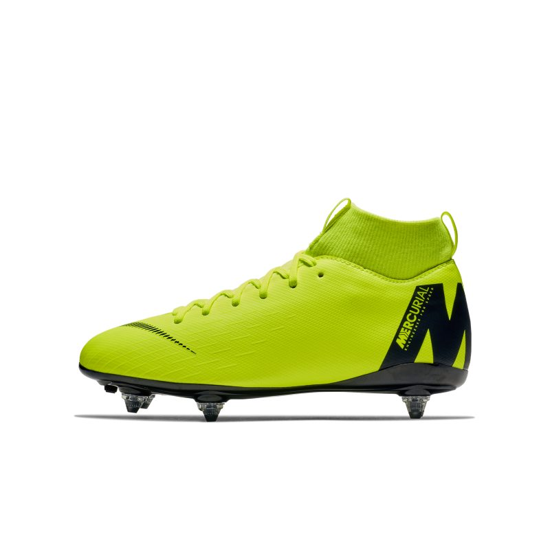 Nike Jr. Mercurial Superfly VI Academy Younger/Older Kids' SG-PRO Soft-Ground Football Boot - Yellow