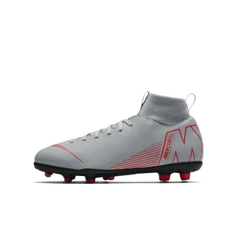 Nike Jr. Mercurial Superfly VI Club MG Younger/Older Kids'Multi-Ground Football Boot - Grey