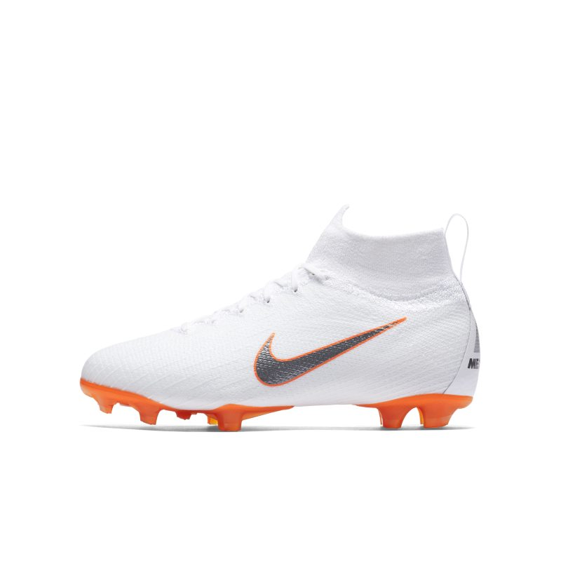 Nike Jr. Mercurial Superfly 360 Elite Just Do It Older Kids' Firm-Ground Football Boot - White