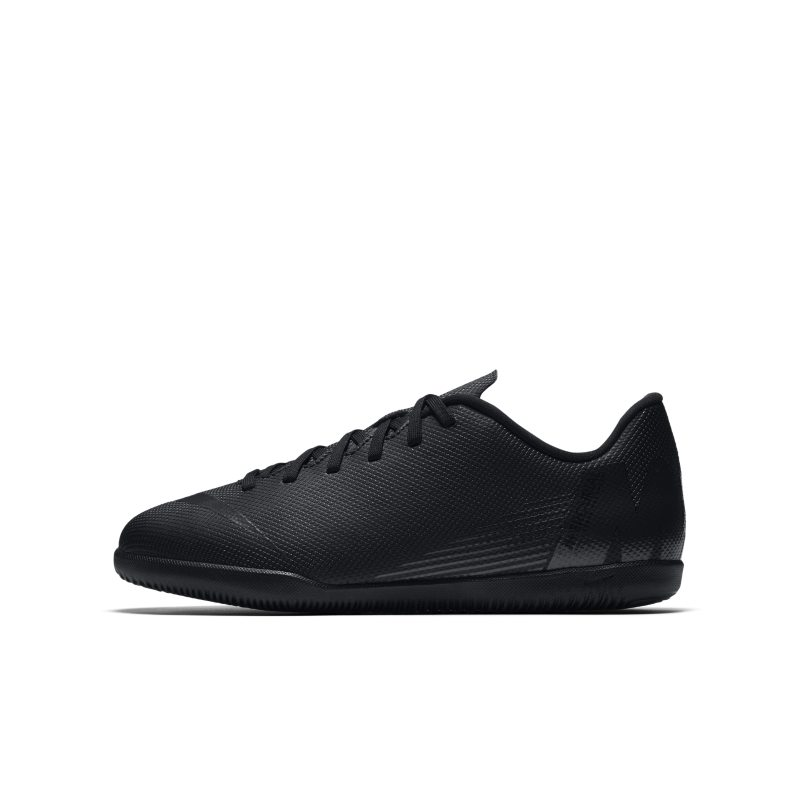 Nike Jr. MercurialX Vapor XII Club IC Younger/Older Kids'Indoor/Court Football Shoe - Black thumbnail
