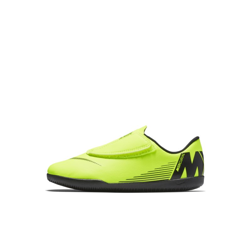 Nike Jr. Mercurial Vapor XII Club Toddler/Younger Kids'Indoor/Court Football Shoe - Yellow thumbnail