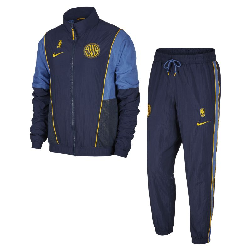 Golden State Warriors Nike Men's NBA Tracksuit - Blue