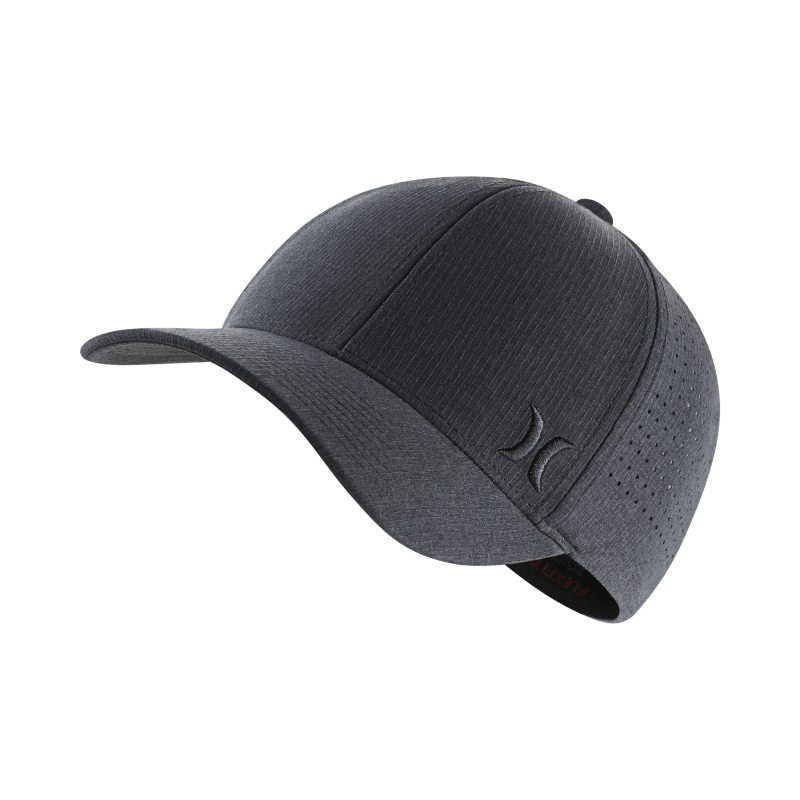 Hurley Phantom Ripstop Fitted Hat - Black