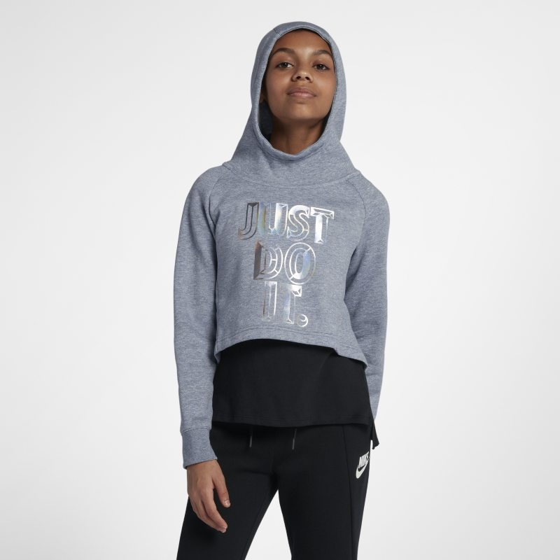 Nike Sportswear Older Kids'(Girls') JDI Cropped Hoodie - Grey thumbnail