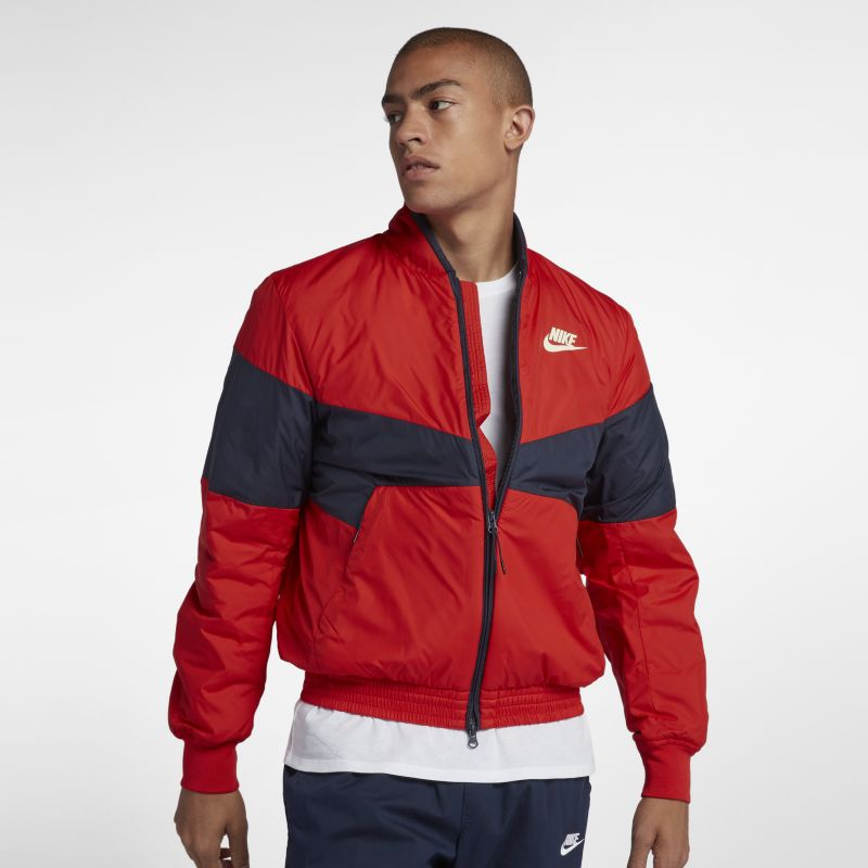 Nike Sportswear Synthetic Fill Men's Graphic Bomber Jacket - Red