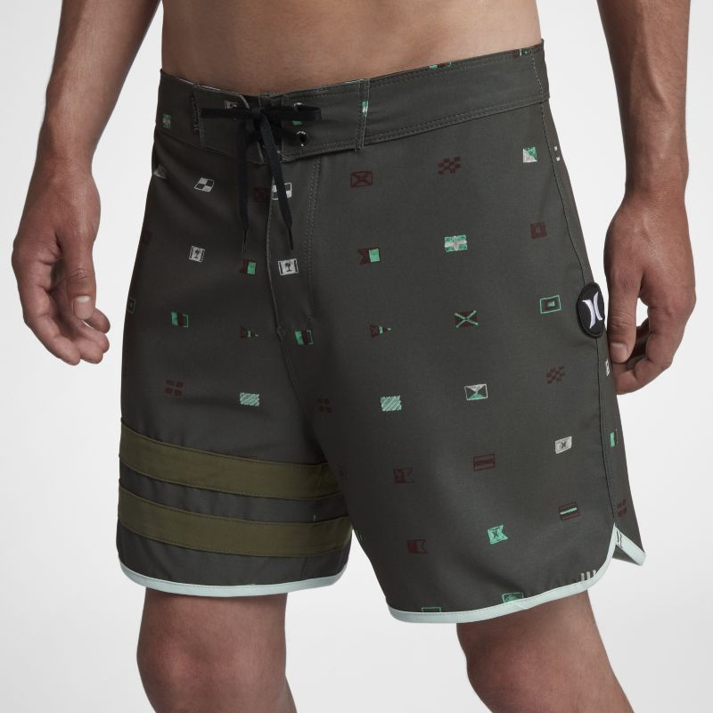 Hurley Phantom Block Party Seaworthy Men's 41cm Boardshorts - Olive