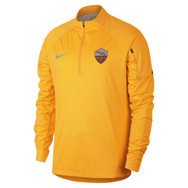 AS Roma Shield Squad Men's Football Drill Top - Gold