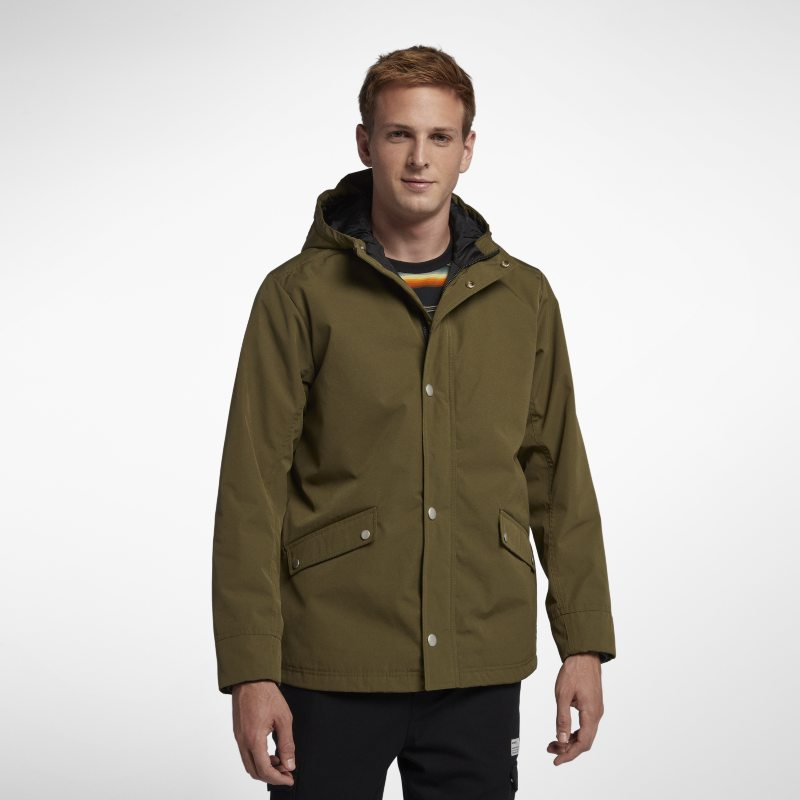 Hurley Timber Men's Hooded Jacket - Olive