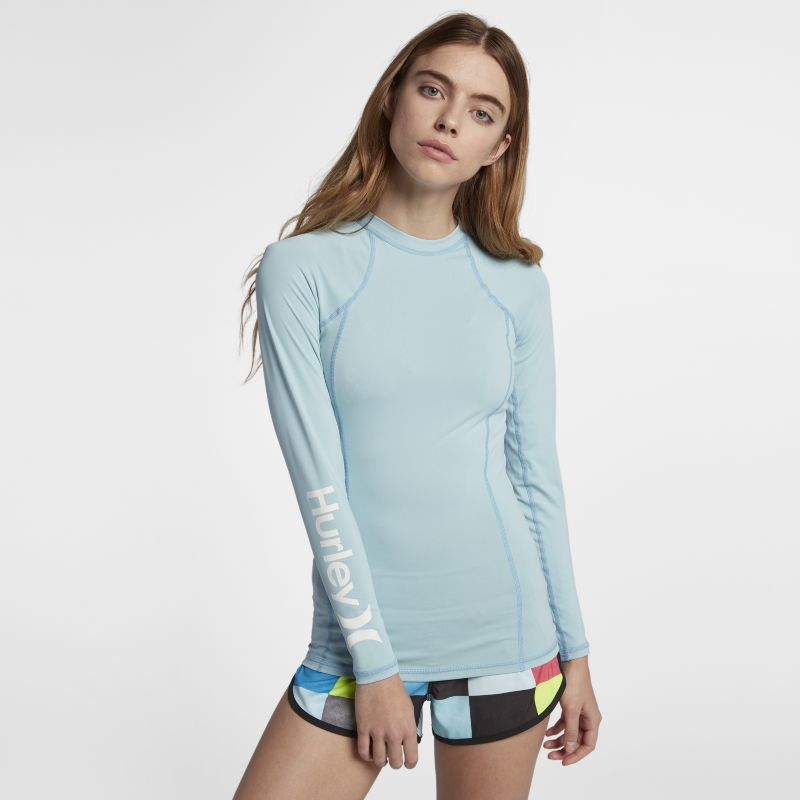 Hurley One And Only Rashguard Women's Surf Top - Blue