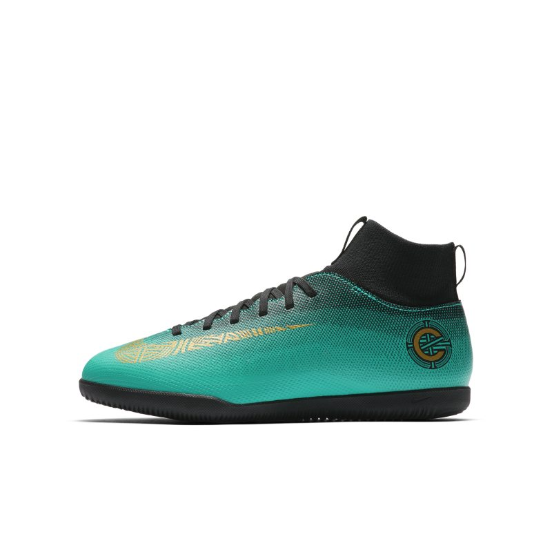 Nike Jr. MercurialX Superfly VI Club CR7 IC Younger/Older Kids'Indoor/Court Football Shoe - Green thumbnail