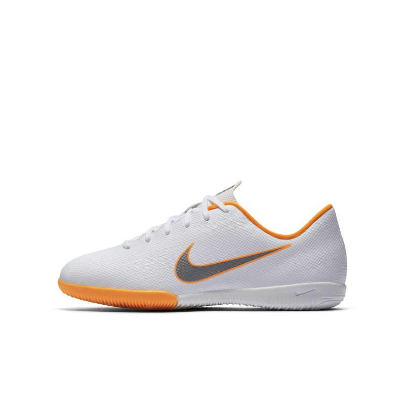 Nike Jr. MercurialX Vapor XII Academy Just Do It Younger/Older Kids'Indoor/Court Football Shoe - Whi