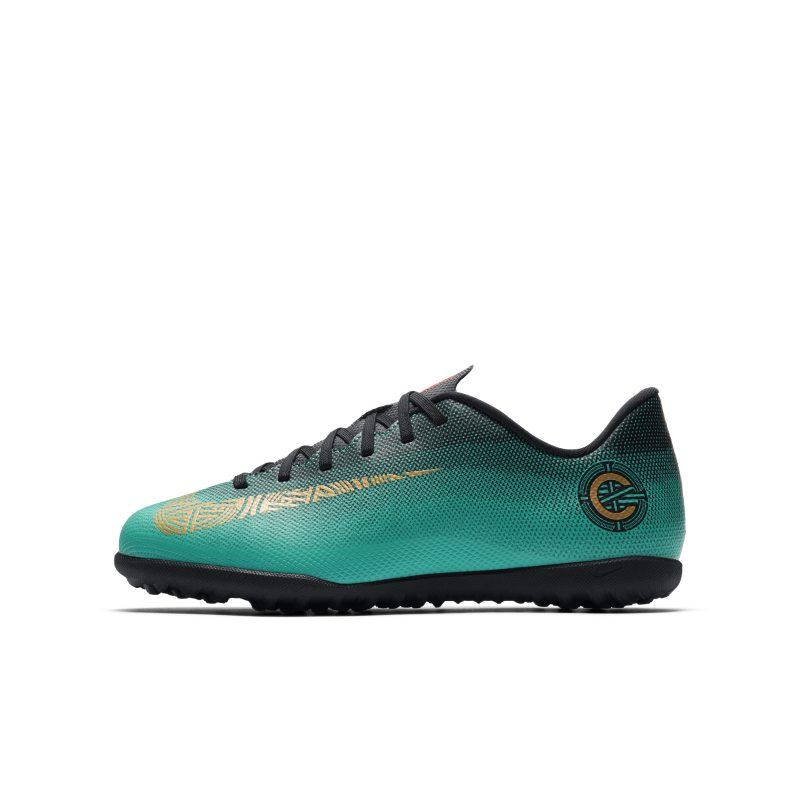 Nike Jr. MercurialX Vapor XII Club CR7 TF Younger/Older Kids'Turf Football Shoe - Green