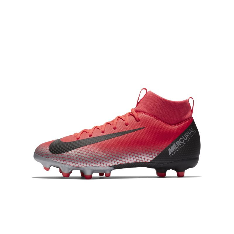 CR7 Jr. Superfly 6 Academy Older Kids' Multi-Ground Football Boot - Red