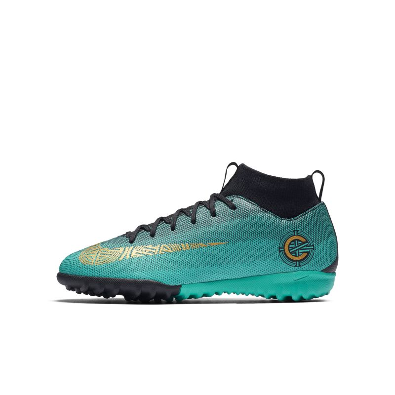 Nike Jr. MercurialX Superfly VI Academy CR7 Younger/Older Kids'Turf Football Shoe - Green