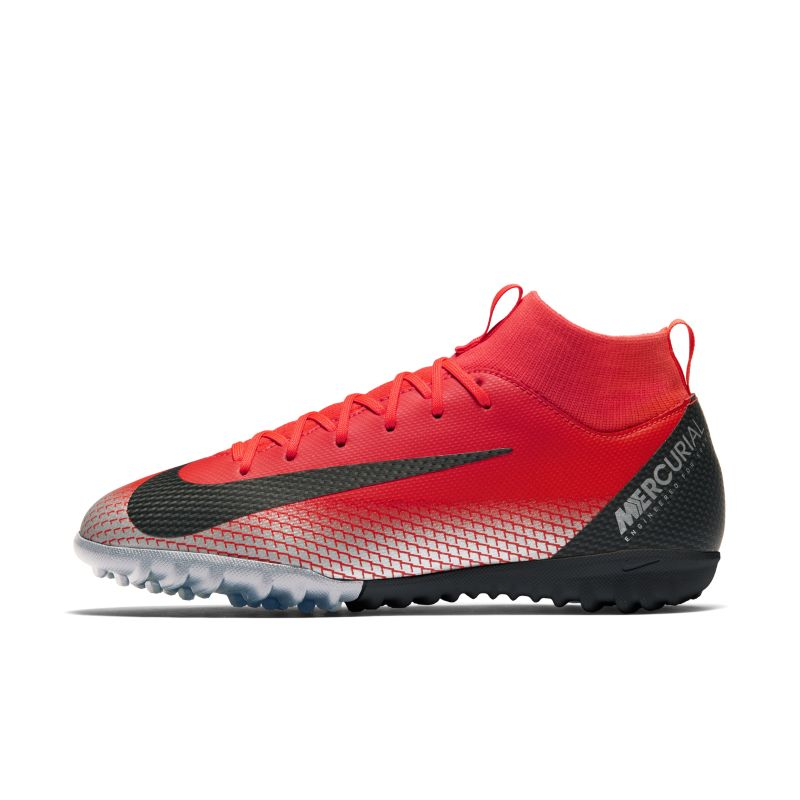 Nike Jr. SuperflyX 6 Academy CR7 Older Kids'Turf Football Boot - Red