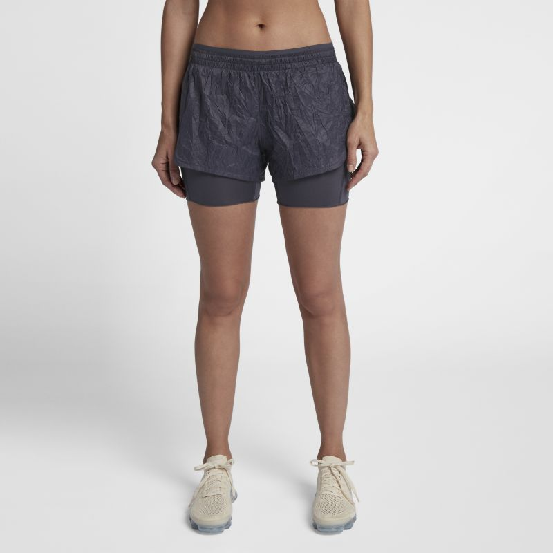 Nike Elevate 2-in-1 Women's Running Shorts - Grey