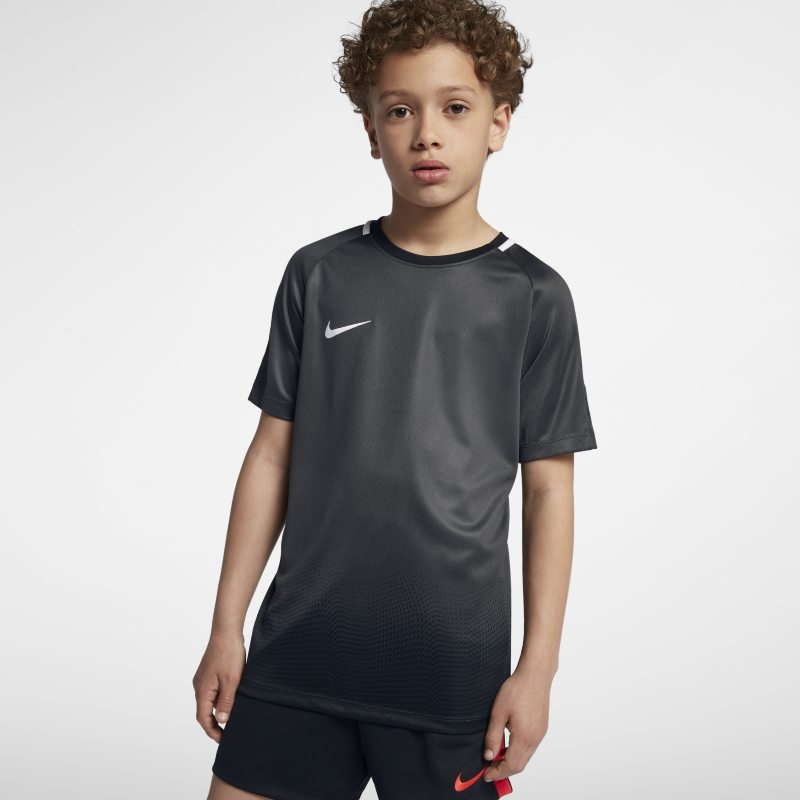 Nike Dri-FIT Academy Older Kids'(Boys') Short-Sleeve Football Top - Black