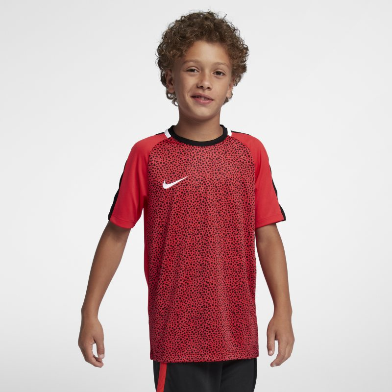 Nike Dri-FIT Academy Older Kids' (Boys') Short-Sleeve Football Top - Red