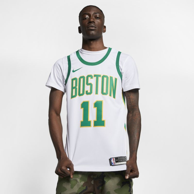 Kyrie Irving City Edition Swingman (Boston Celtics) Men's Nike NBA Connected Jersey - White