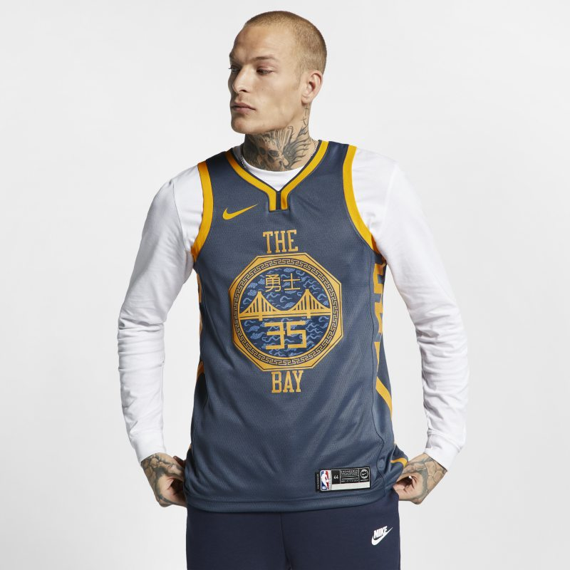 Image of Kevin Durant Association Edition Swingman (Golden State Warriors) Men's Nike NBA Connected Jersey White