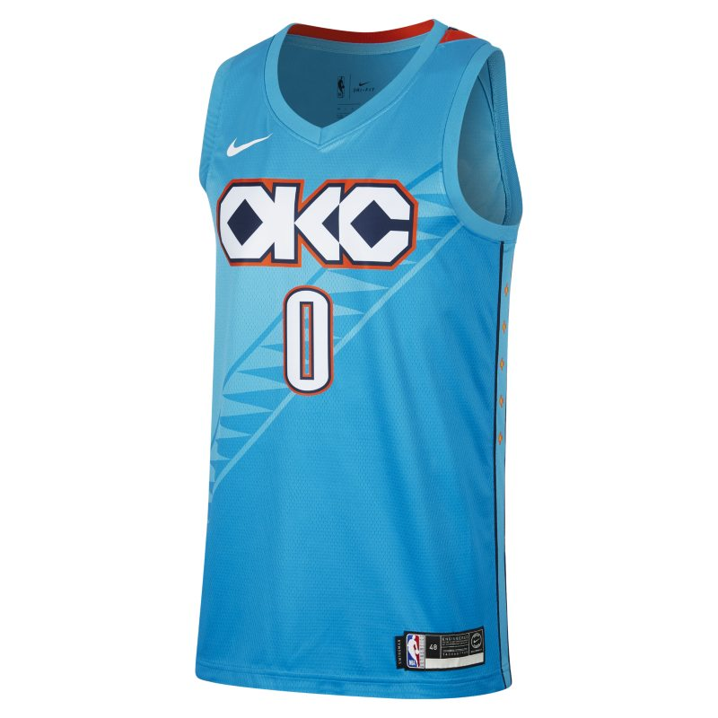 3a219b9c336 Russell Westbrook City Edition Swingman (Oklahoma City Thunder) Men's Nike  NBA Connected Jersey - Blue