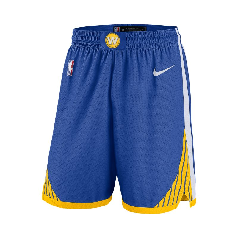 Golden State Warriors Icon Edition Swingman Men's Nike NBA Shorts - Blue