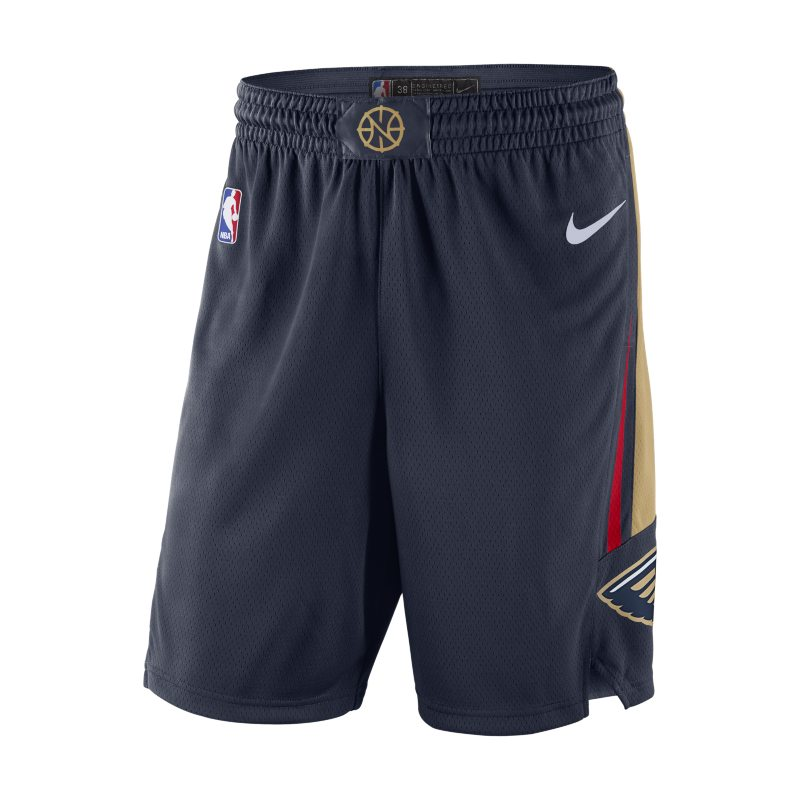 Image of New Orleans Pelicans Nike Icon Edition Swingman Men's NBA Shorts Blue