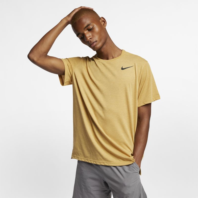 Nike Breathe Men's Short-Sleeve Training Top - Gold