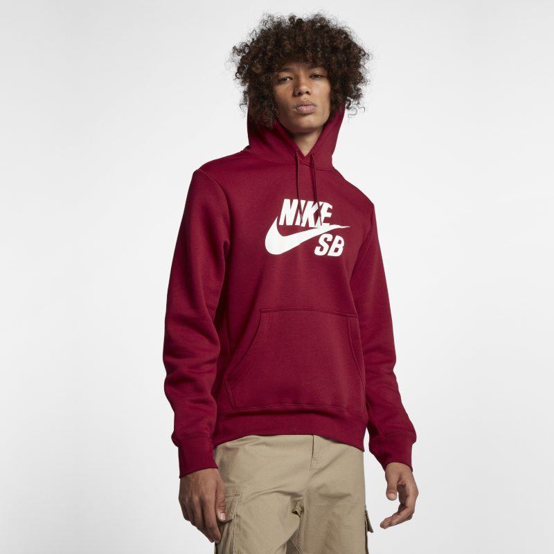 Nike SB Icon Men's Pullover Hoodie - Red