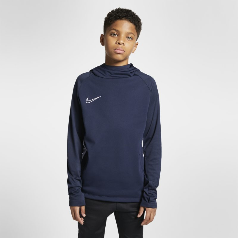 Image of Nike Dri FIT Academy Men's Pullover Football Hoodie Blue